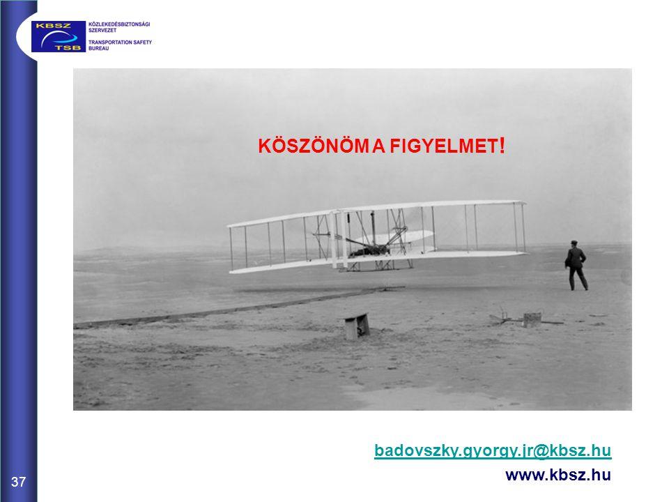 KÖSZÖNÖM A FIGYELMET! badovszky.gyorgy.jr@kbsz.hu www.kbsz.hu 37