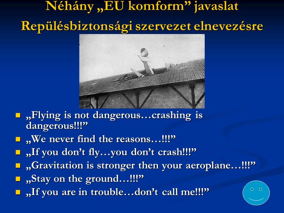 """Néhány """"EU komform javaslat Repülésbiztonsági szervezet elnevezésre"""