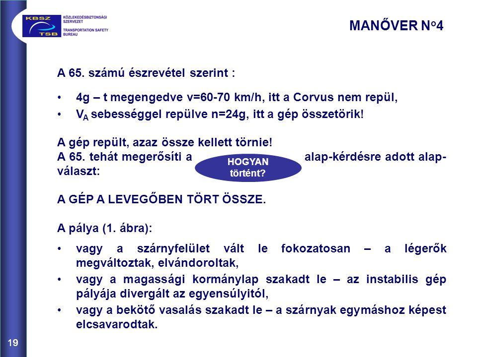 MANŐVER No4 A 65. számú észrevétel szerint :