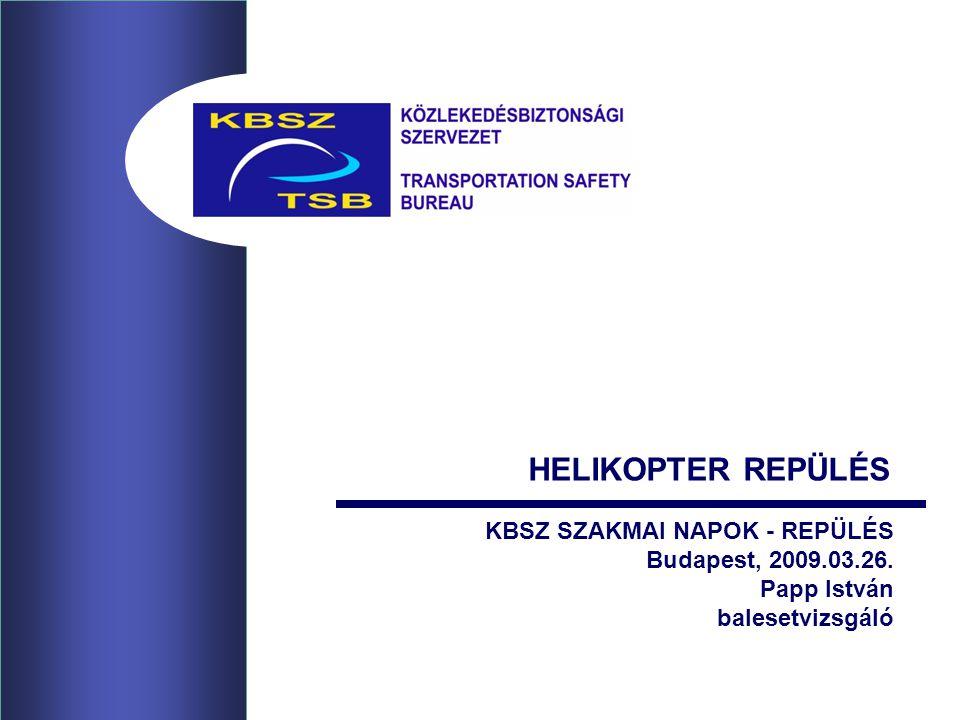HELIKOPTER REPÜLÉS KBSZ SZAKMAI NAPOK - REPÜLÉS Budapest, 2009.03.26.