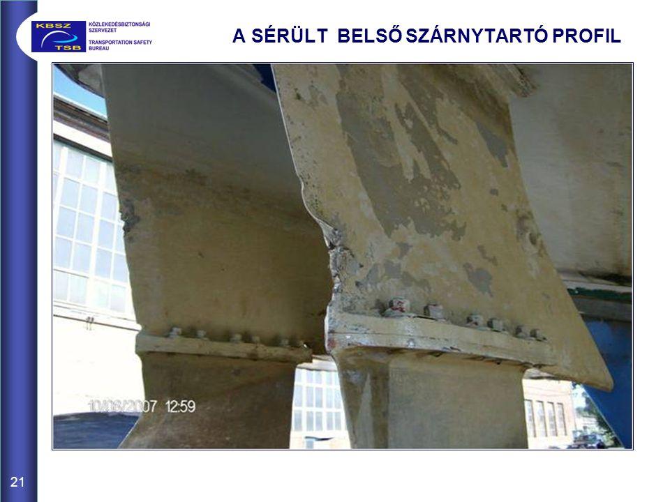 A SÉRÜLT BELSŐ SZÁRNYTARTÓ PROFIL
