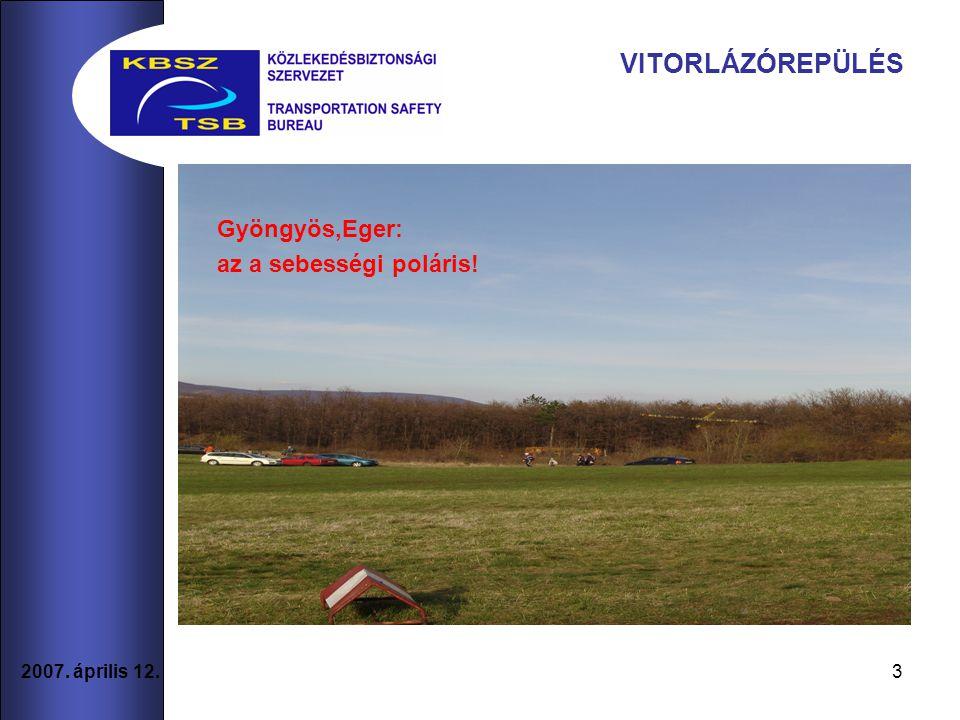 VITORLÁZÓREPÜLÉS Gyöngyös,Eger: az a sebességi poláris!