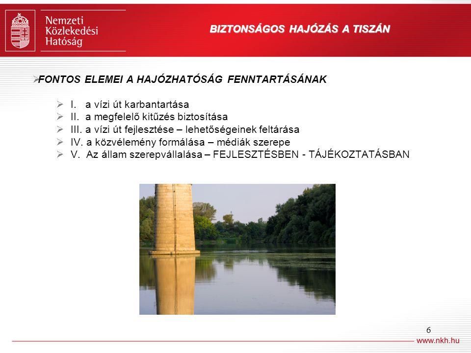 BIZTONSÁGOS HAJÓZÁS A TISZÁN