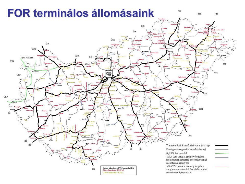 FOR terminálos állomásaink