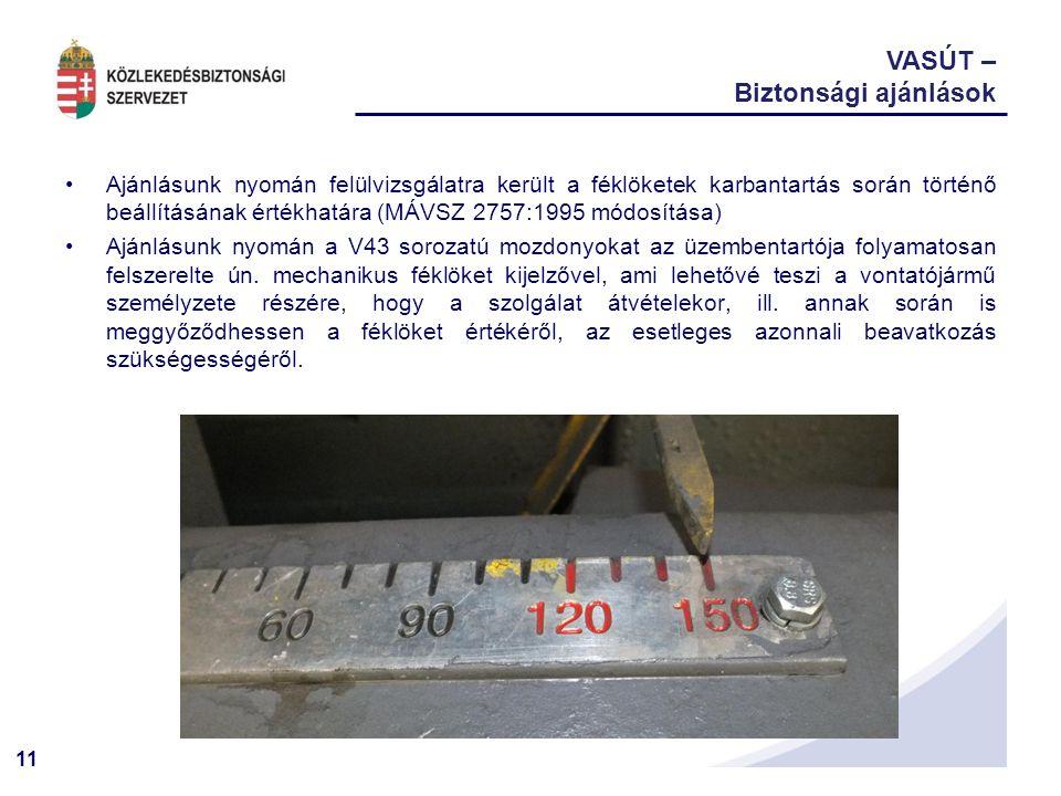 VASÚT – Biztonsági ajánlások