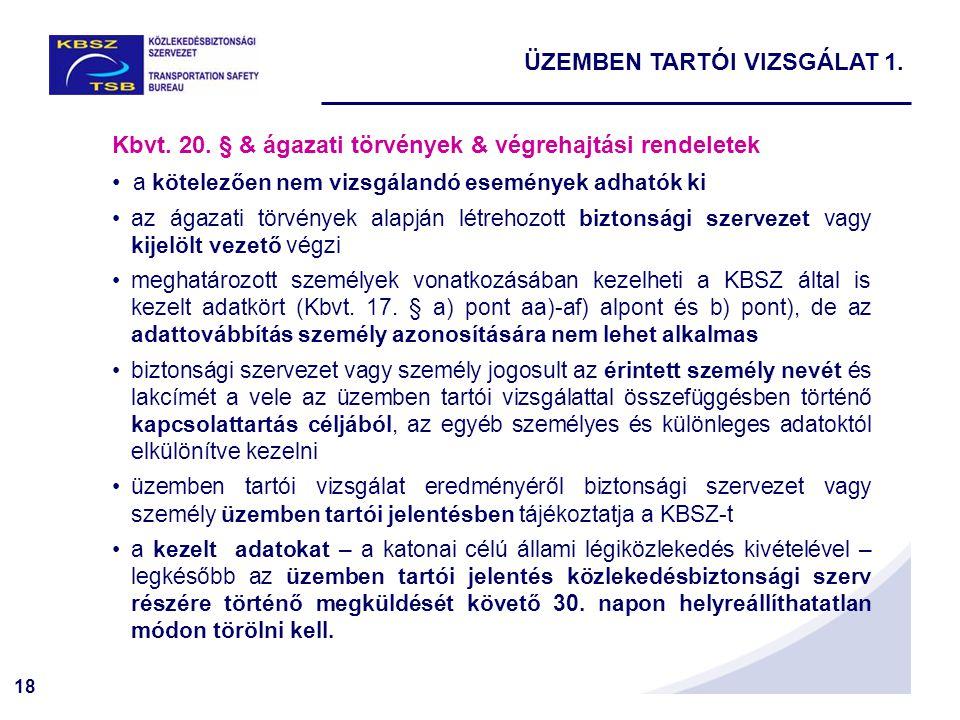 ÜZEMBEN TARTÓI VIZSGÁLAT 1.