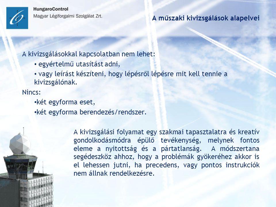 A műszaki kivizsgálások alapelvei