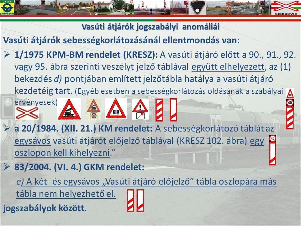Vasúti átjárók jogszabályi anomáliái