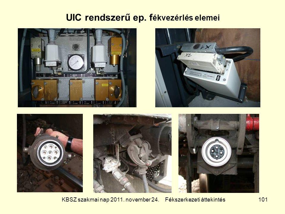 UIC rendszerű ep. fékvezérlés elemei