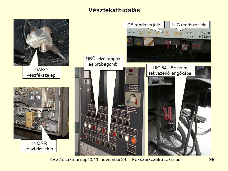 Vészfékáthidalás DB rendszer jele UIC rendszer jele