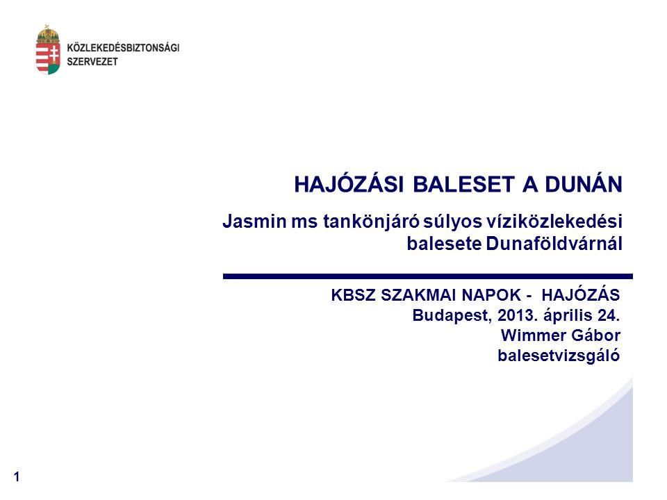 HAJÓZÁSI BALESET A DUNÁN Jasmin ms tankönjáró súlyos víziközlekedési balesete Dunaföldvárnál