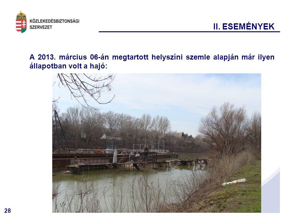 II. ESEMÉNYEK A 2013.