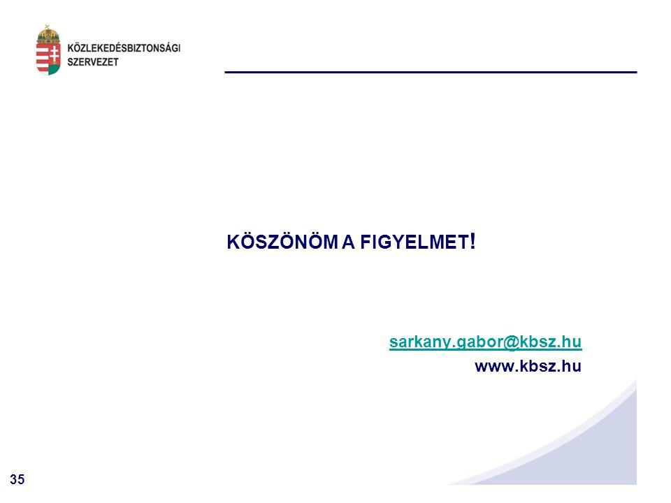 KÖSZÖNÖM A FIGYELMET! sarkany.gabor@kbsz.hu www.kbsz.hu