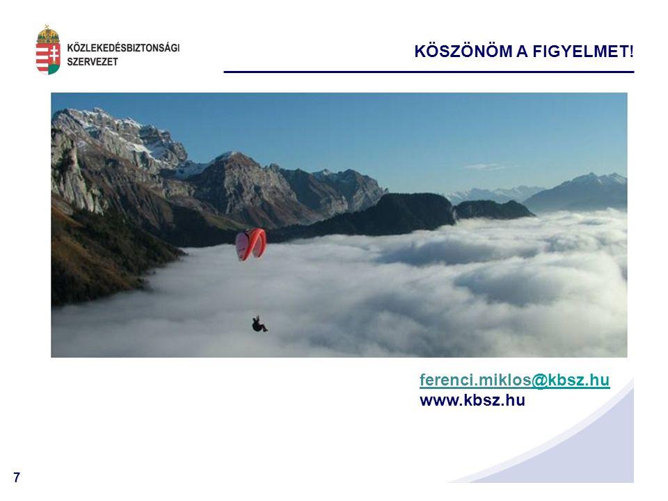 KÖSZÖNÖM A FIGYELMET! ferenci.miklos@kbsz.hu www.kbsz.hu