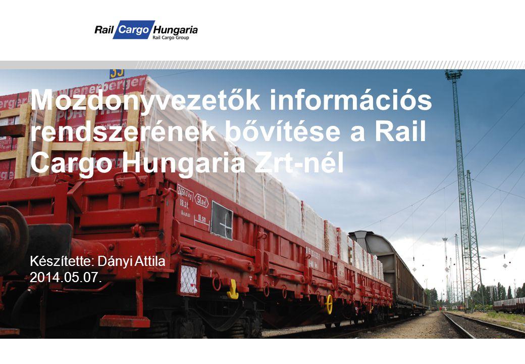 Presentation Title Mozdonyvezetők információs rendszerének bővítése a Rail Cargo Hungaria Zrt-nél. Készítette: Dányi Attila.
