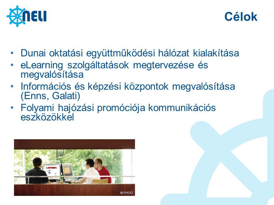 Célok Dunai oktatási együttműködési hálózat kialakítása