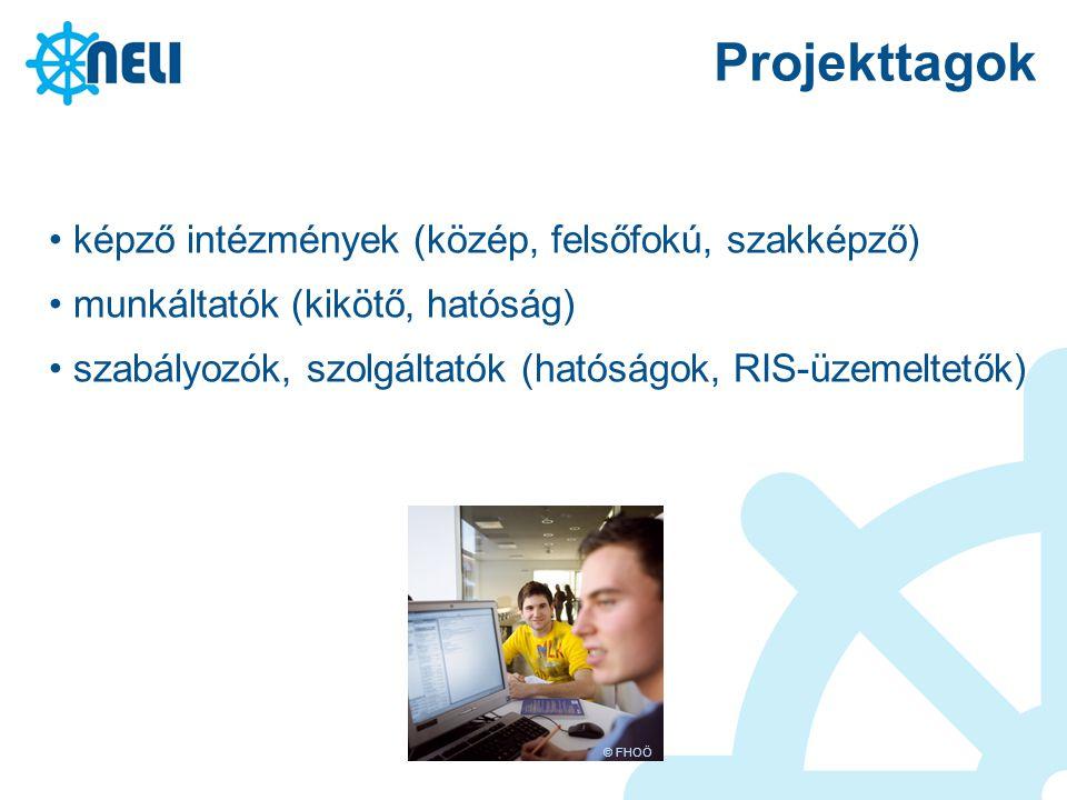 Projekttagok képző intézmények (közép, felsőfokú, szakképző)