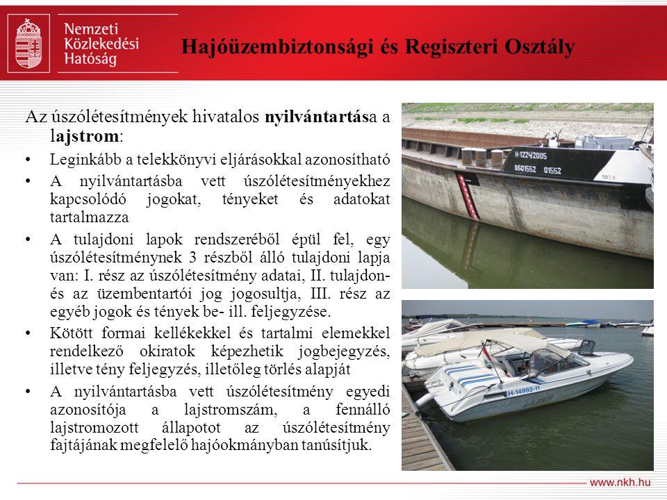 Hajóüzembiztonsági és Regiszteri Osztály