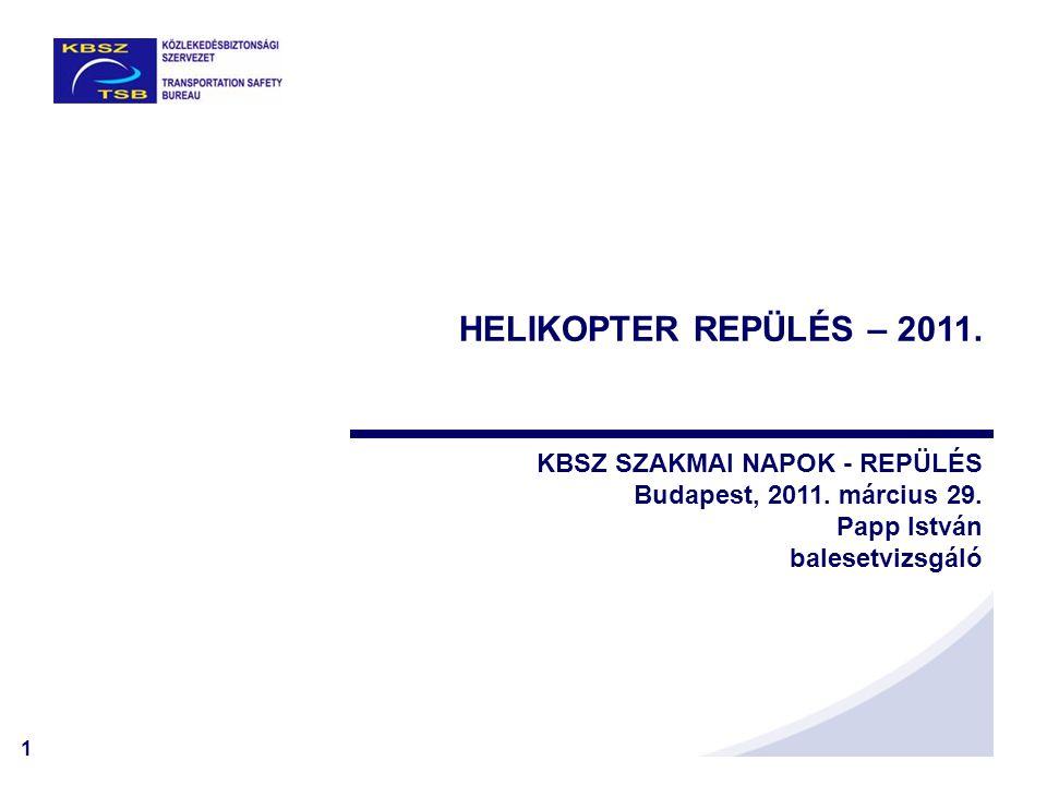 HELIKOPTER REPÜLÉS – 2011. KBSZ SZAKMAI NAPOK - REPÜLÉS