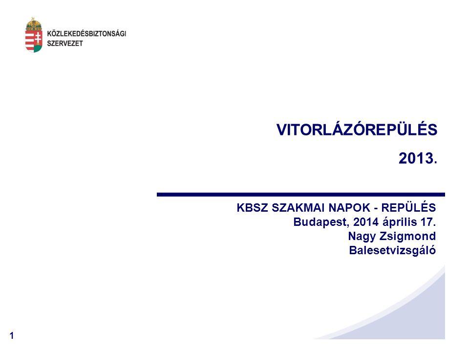 VITORLÁZÓREPÜLÉS 2013. KBSZ SZAKMAI NAPOK - REPÜLÉS