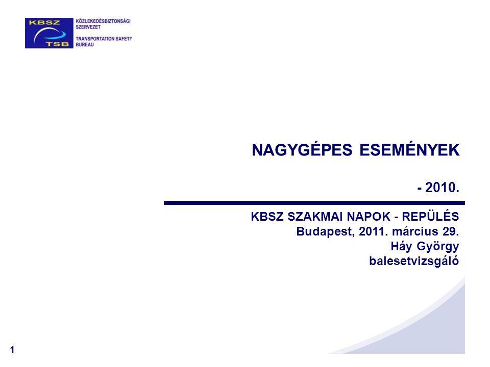 NAGYGÉPES ESEMÉNYEK - 2010. KBSZ SZAKMAI NAPOK - REPÜLÉS