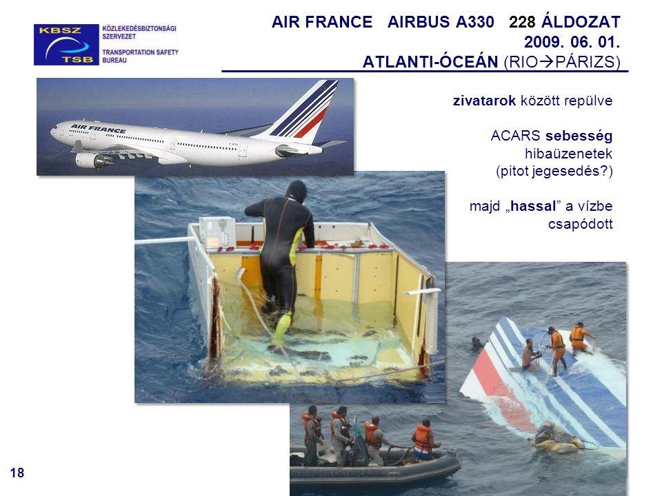 AIR FRANCE AIRBUS A330 228 ÁLDOZAT 2009. 06. 01