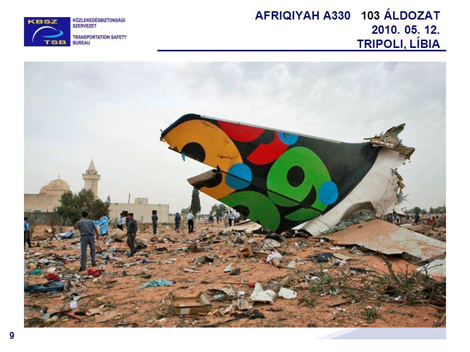 AFRIQIYAH A330 103 ÁLDOZAT 2010. 05. 12. TRIPOLI, LÍBIA