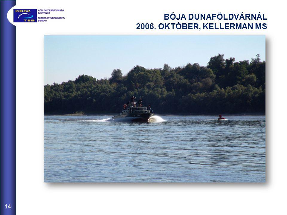 BÓJA DUNAFÖLDVÁRNÁL 2006. OKTÓBER, KELLERMAN MS