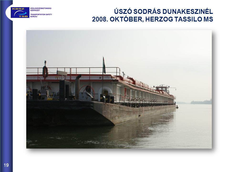 ÚSZÓ SODRÁS DUNAKESZINÉL 2008. OKTÓBER, HERZOG TASSILO MS