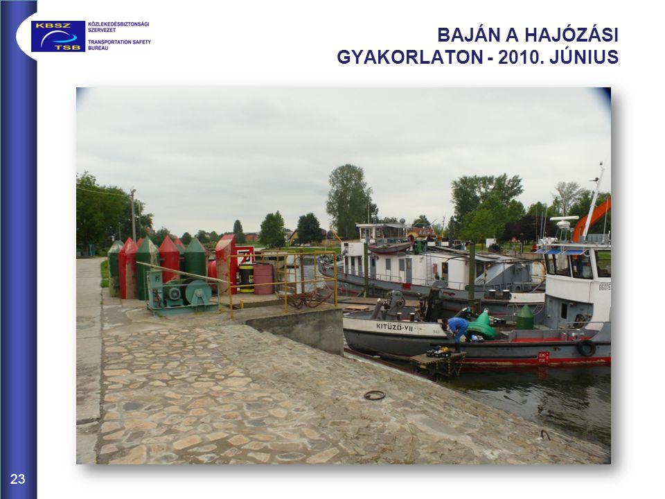 BAJÁN A HAJÓZÁSI GYAKORLATON - 2010. JÚNIUS