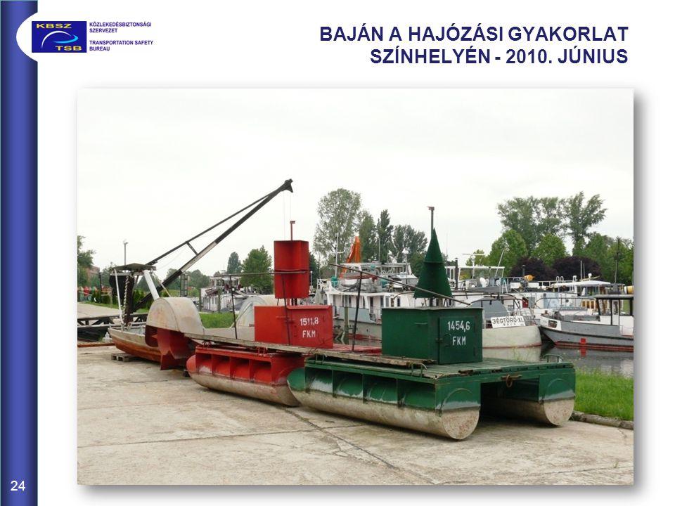 BAJÁN A HAJÓZÁSI GYAKORLAT SZÍNHELYÉN - 2010. JÚNIUS