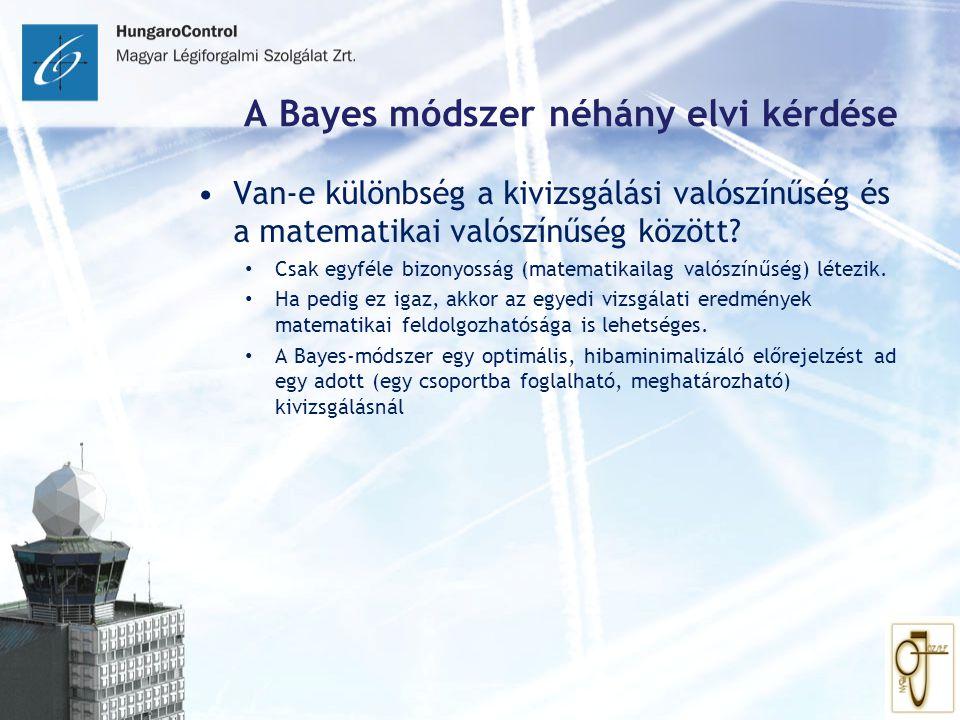 A Bayes módszer néhány elvi kérdése