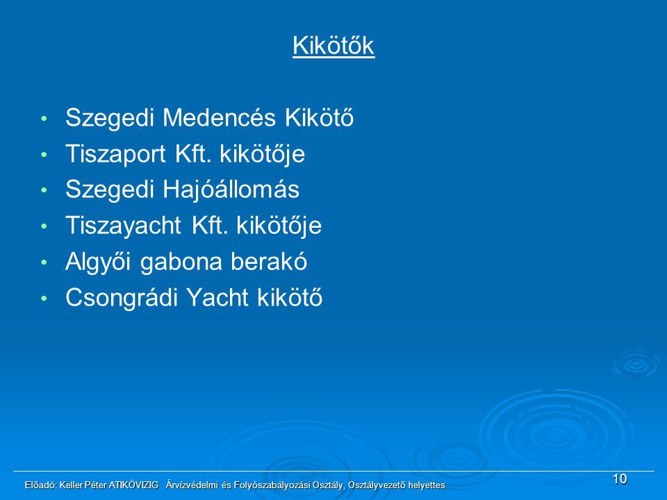 Szegedi Medencés Kikötő Tiszaport Kft. kikötője Szegedi Hajóállomás