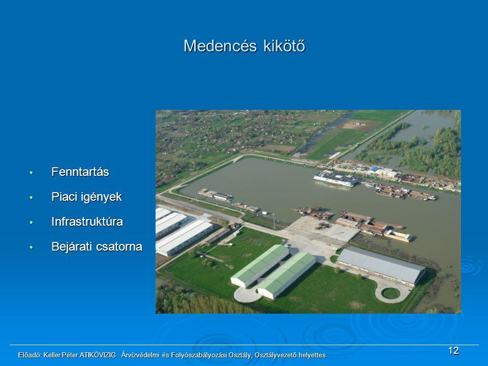Medencés kikötő Fenntartás Piaci igények Infrastruktúra