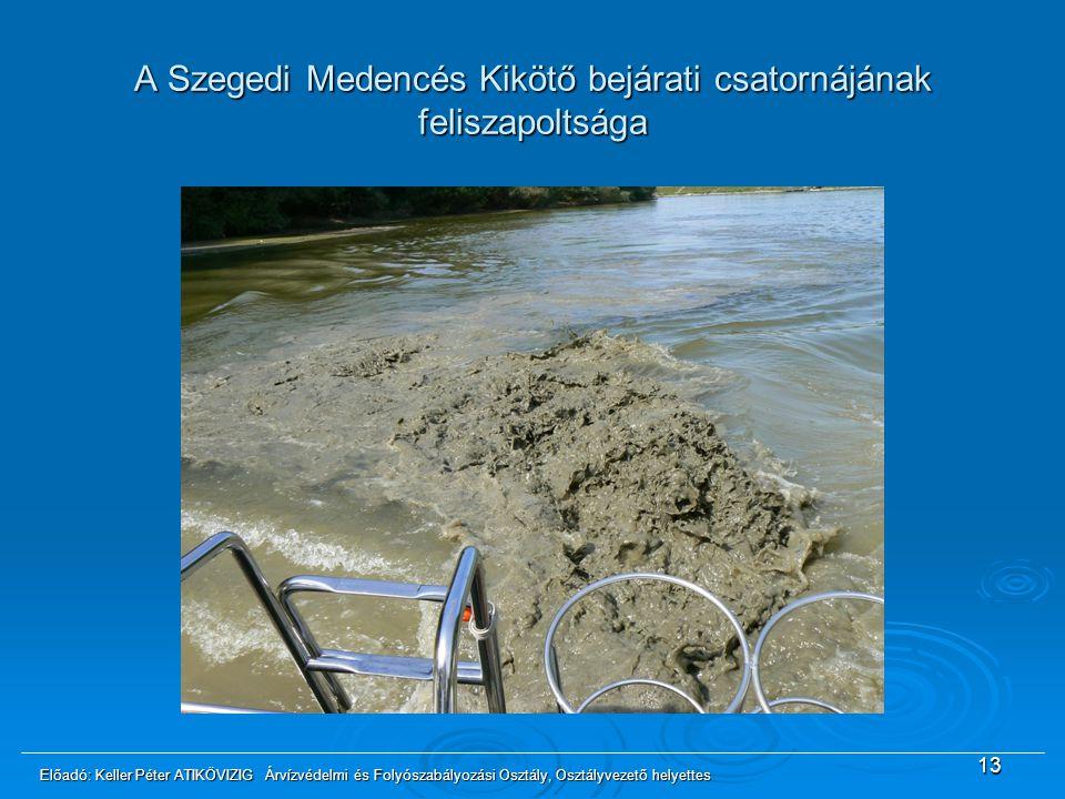 A Szegedi Medencés Kikötő bejárati csatornájának feliszapoltsága