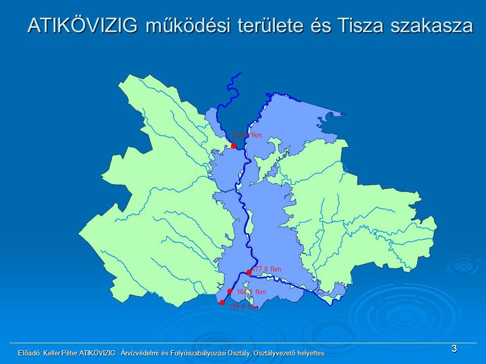 ATIKÖVIZIG működési területe és Tisza szakasza