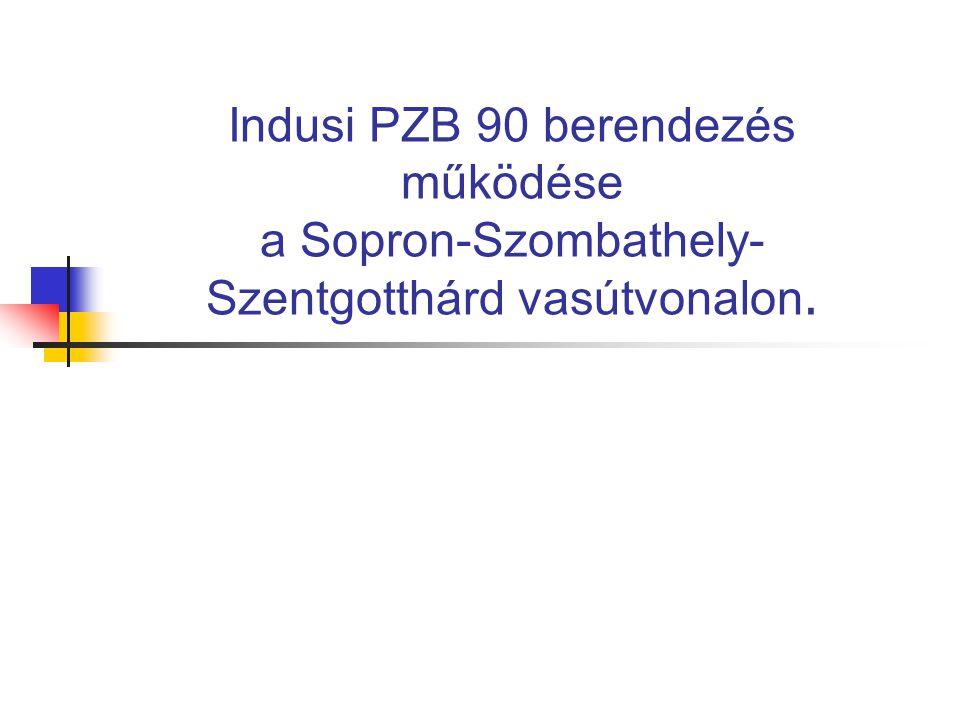 Indusi PZB 90 berendezés működése a Sopron-Szombathely-Szentgotthárd vasútvonalon.