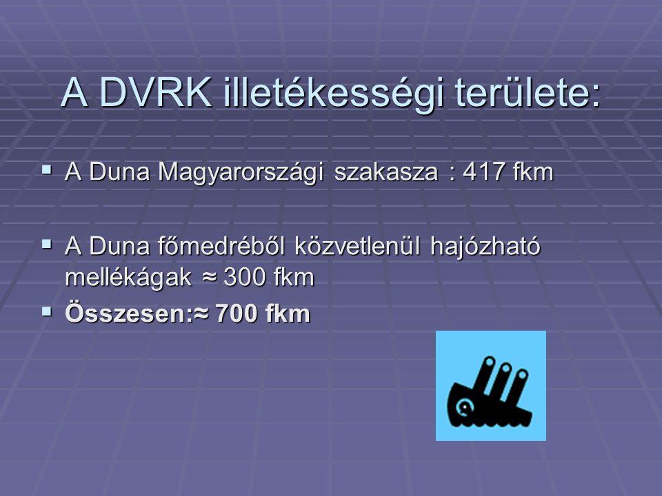 A DVRK illetékességi területe: