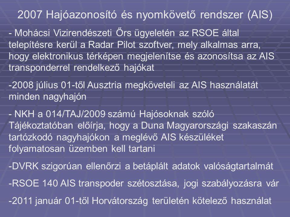 2007 Hajóazonosító és nyomkövető rendszer (AIS)