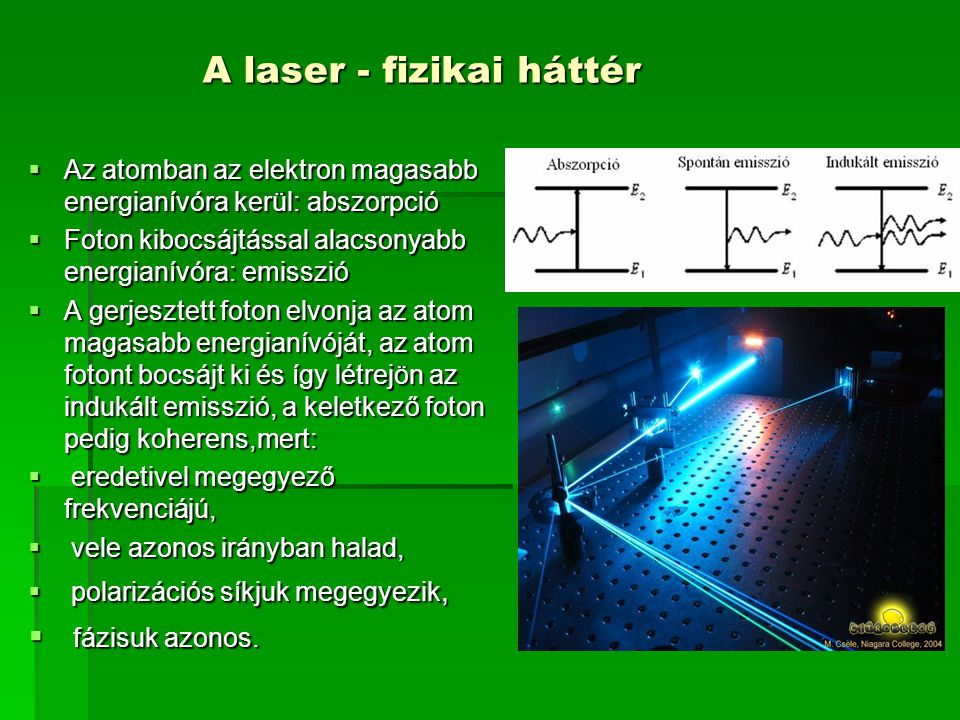 A laser - fizikai háttér