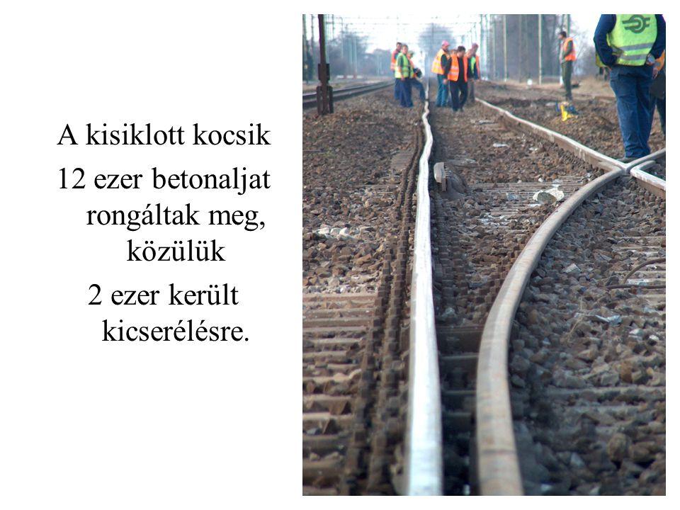 12 ezer betonaljat rongáltak meg, közülük