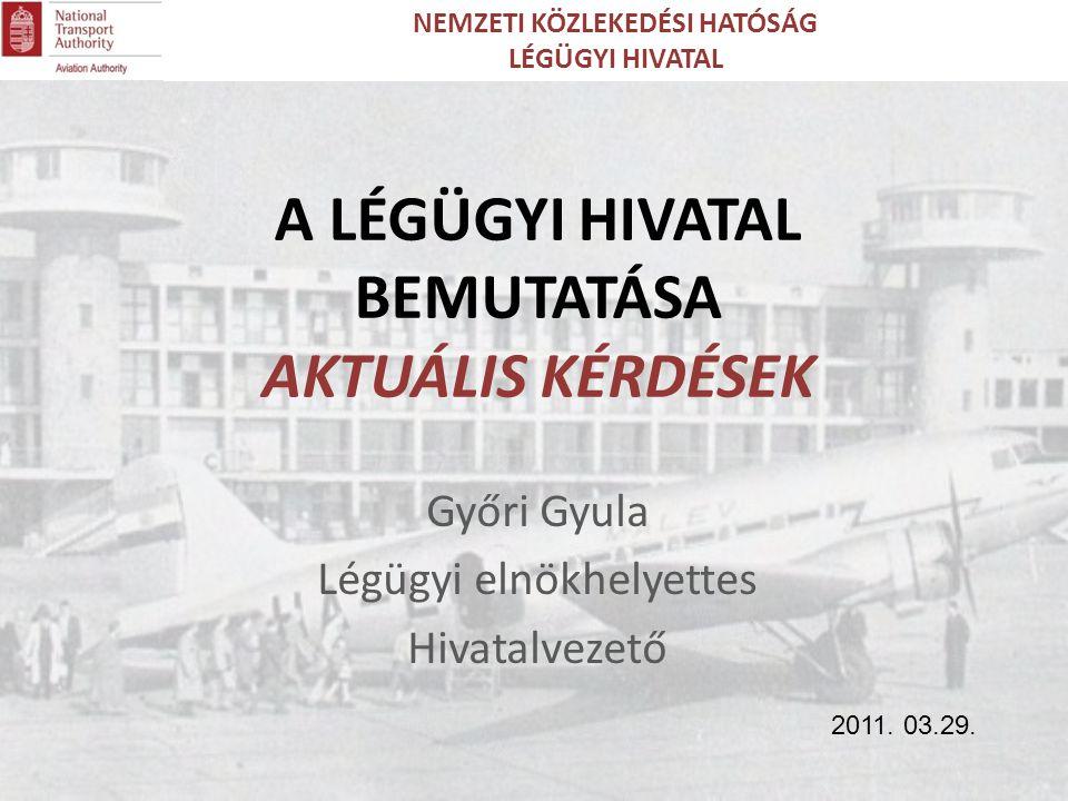 Győri Gyula Légügyi elnökhelyettes Hivatalvezető