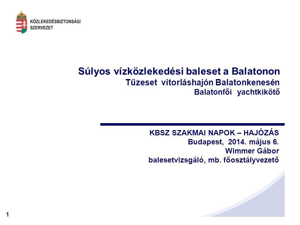Súlyos vízközlekedési baleset a Balatonon Tűzeset vitorláshajón Balatonkenesén