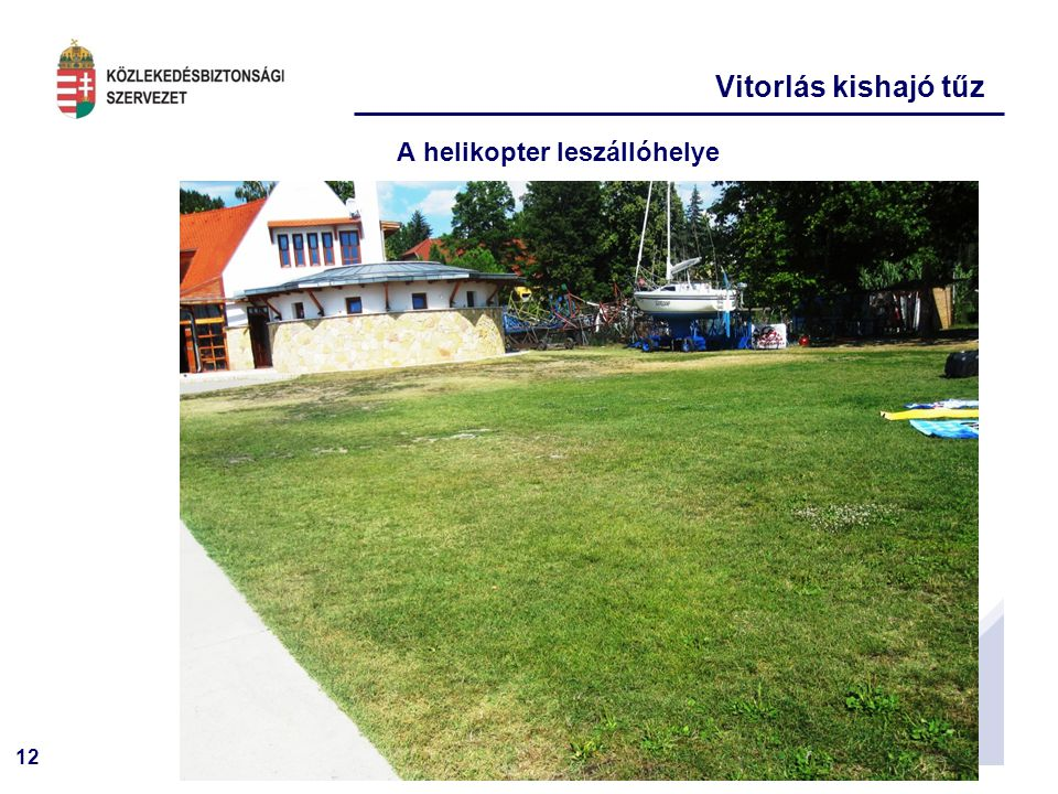 A helikopter leszállóhelye