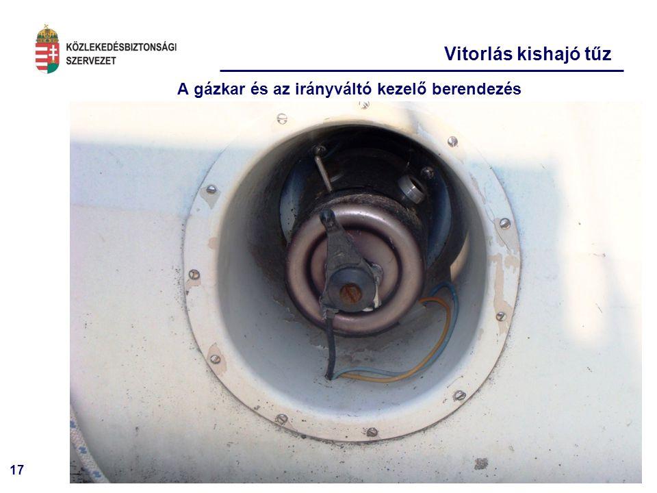 A gázkar és az irányváltó kezelő berendezés