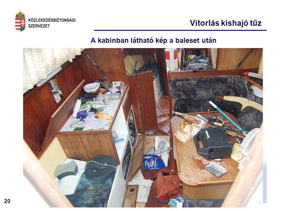 A kabinban látható kép a baleset után