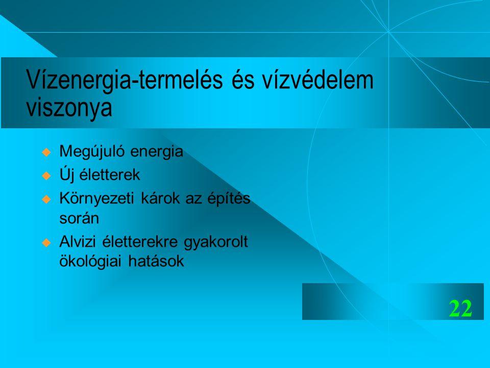 Vízenergia-termelés és vízvédelem viszonya