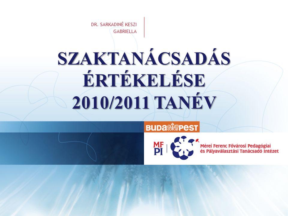 SZAKTANÁCSADÁS ÉRTÉKELÉSE 2010/2011 TANÉV
