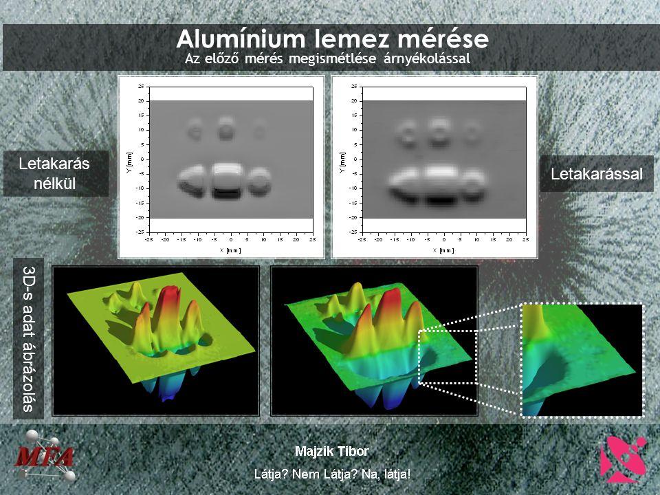 Alumínium lemez mérése