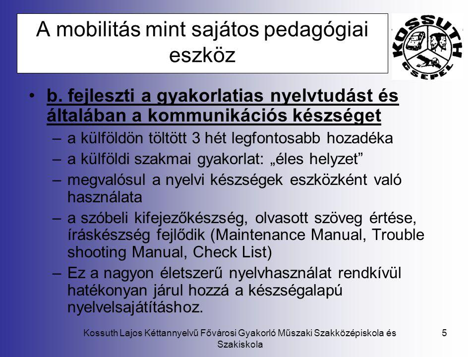A mobilitás mint sajátos pedagógiai eszköz